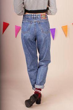 Supercool vintage blue jeans by PEPE 80s mom jean denim high