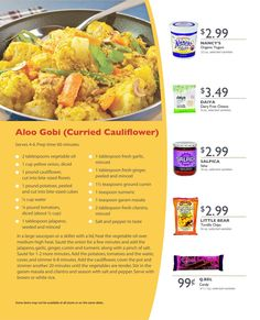 Aloo Gobi (Curried Cauliflower)
