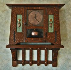 Arts & Crafts scarab clock - The Arts and Crafts Studio - Terry Cross Craftsman Clocks, Craftsman Furniture, Craftsman Interior, Craftsman Style, Craftsman Homes, Craftsman Decor, Old Clocks, Antique Clocks, Vintage Clocks
