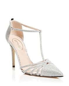 SJP by Sarah Jessica Parker Carrie Glitter Cage T-Strap Pumps
