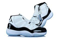 Nike Air Jordan 11 Womens 2014 White Black Blue Shoes