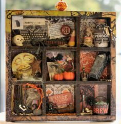 Dollar Store Halloween Shadow Box. I've never seen a box like that at the dollar store, but maybe a craft store, I love this! Good place for all my random tiny treasures.