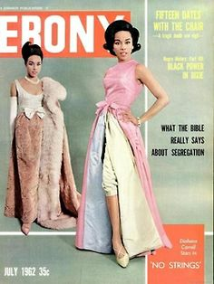 Diahann Carroll on the July 1962 cover of Ebony magazine