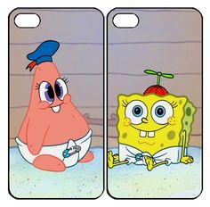 patrick and spongebob Samsung Galaxy S3 S4 S5 Note 3 case, iPhone 4 4S 5 5s 5c case, iPod Touch 4 5 Couple Case