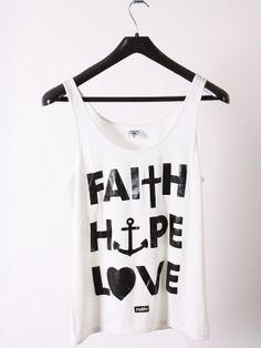 Faith Hope Love tank