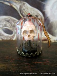 Vlad Dracula circa 1523 skull dollhouse miniature by DarkSquirrel, $30.00