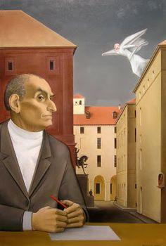 Norberto Bobbio - olio su tavola - 41 x 61 cm (2007)