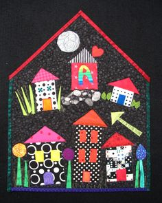 Yvonne Porcella...quilted wall hanging. Houses within a house