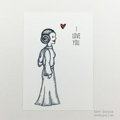 Star Wars I, Leia, Love Doodle Series Share The Love, Love You, My Love, Love Doodles, Red Accents, My Passion, Love Story, My Arts, Star Wars