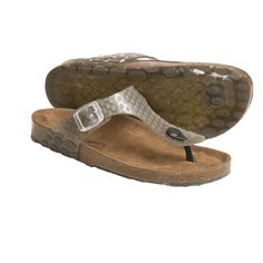 Helle Comfort Janille Thong Sandals (For Women) in Smoke