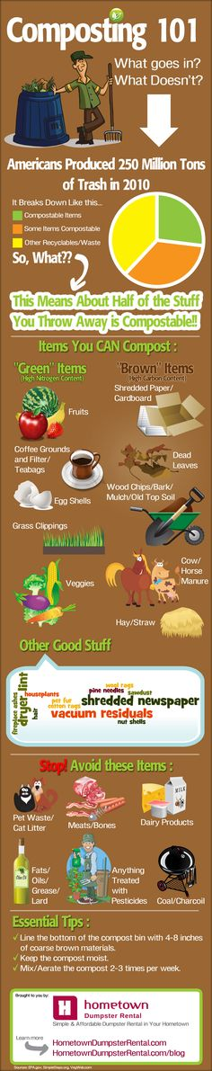 Infographic: Composting 101 — What's in, What's out?