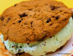 Mint Chocolate Chip Ice Cream Sandwich at the Plaza Ice Cream Parlor #WDW #DisneyFood