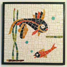 50s vintage fish mosaic...nice in the bathroom