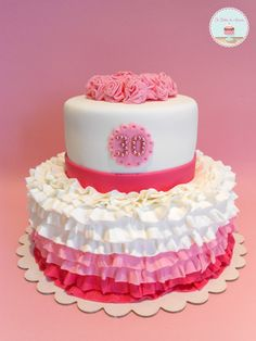 I love anything ruffled and pretty…cakes, little girl skirts….