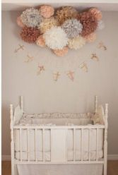 peach, cream, mocha, grey.... colors for baby girl room (or side of room- if she shares a room with jude, this wont clash with rest of room)