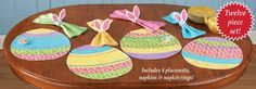 $17  #Collections  Easter Egg Floral Placemat Set - 12 pc