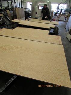 New marine plywood floor