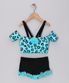 Take a look at this Turquoise Heart Dance Top & Shorts - Toddler & Girls by Lexi-Luu Designs on #zulily today!