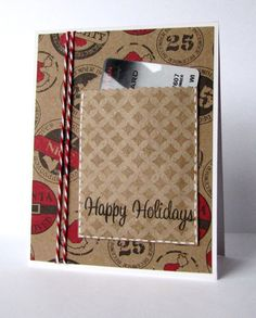 gift card pocket in front of the card.
