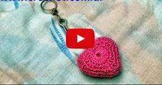 Llavero corazón en tejido crochet tutorial paso a paso. | Todo crochet