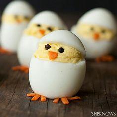 Gefüllte Eier Hühnchen