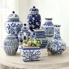 Blue & White Chinoiserie Collection is part of Green Home Accessories Blue And White - Our Blue and White Vases celebrate the traditional look of blue and white porcelain, which dates back to the century Shop Ballard Designs today Blue And White Vase, White Vases, Blue Vases, Black White, Porcelain Vase, White Porcelain, Porcelain Veneers, Porcelain Jewelry, Porcelain Doll