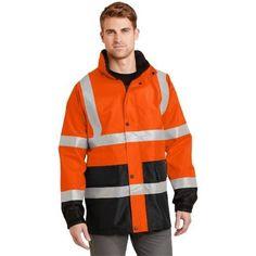 CornerStone® - Ansi 107 Class 3 Waterproof Parka. CSJ24, Men's, Size: XXL, Black