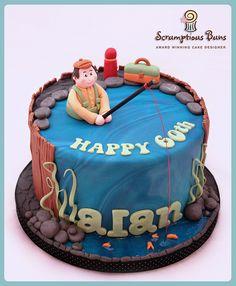 Risultati immagini per fisherman cake Fish Cake Birthday, Birthday Cakes For Men, Cupcakes, Cupcake Cakes, Fondant, Fisherman Cake, Dad Cake, Sport Cakes, Novelty Cakes