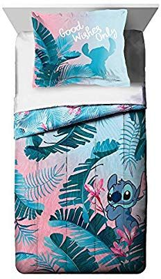New Jay Franco Disney Lilo & Stitch Floral Fun Twin Comforter & Sham Set - Super Soft Kids Reversible Bedding - Fade Resistant Microfiber (Official Disney Product) online shopping - Prettytrendyfashion Cute Bedroom Ideas, Cute Room Decor, Lelo And Stitch, Lilo Stitch, Lilo And Stitch Toys, Mode Harry Potter, Disney Bedding, Disney Nursery, Disney Bedrooms