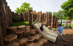 With the brand new playground, children can maintain in contact with their regular ambiance. Playground Design, Outdoor Playground, Children Playground, Playground Ideas, Modern Playground, Country Kitchen Designs, Rustic Italian, Kids Pages, Small Gardens