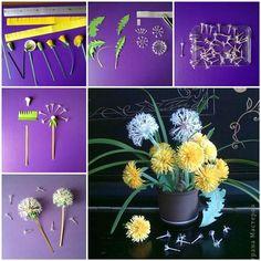 How to Make Beautiful Paper Dandelions   iCreativeIdeas.com Like Us on Facebook ==> https://www.facebook.com/icreativeideas