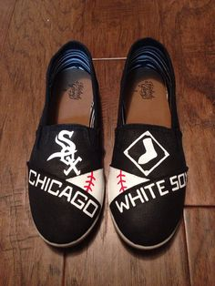 Custom Painted Shoes Chicago White Sox by PaperPaintScissors