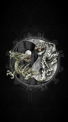 #Chinese Yin Yang #Tiger #Dragon #Windows #Phone #Wallpaper ~ #Smartphone #Pinterest #ITRTG