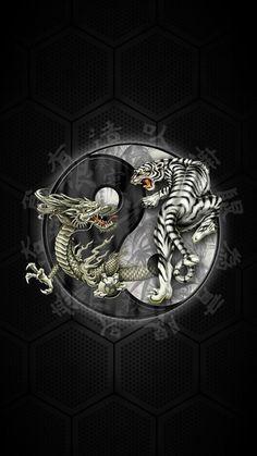 #Chinese Yin Yang #Tiger #Dragon #Windows #Phone #Wallpaper ~ #Smartphone #Pinterest #ITRTG