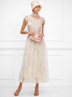 10 Hot Wedding Trends for 2013--#7 The 1920's: Pierson Rose Print Silk Dress by Ralph Lauren (www.3d-memoirs.com) #1920's #weddings