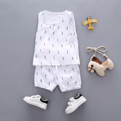 cc80c32ee37 Baby Boys Clothes 2018 Summer Style Beach Star Tree Print Casual Sport Suit  2Pcs Sets T
