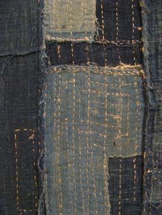 Detail of BORO stitching