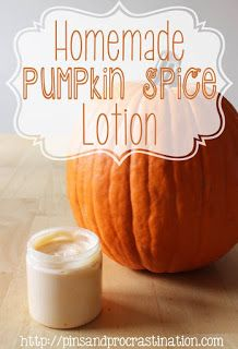 Anointed by Abba: Homemade Organic Pumpkin Spice Lotion