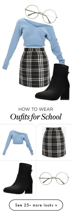 """School vibes"" by fashionxx1 on Polyvore"
