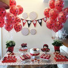 Baby Birthday, First Birthday Parties, First Birthdays, Miraculous Ladybug Party, Ladybug Crafts, Ladybug Decor, Latex Balloons, Baby Party, Bunt