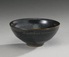 A SMALL BLACK-GLAZED  'OIL SPOT' BOWL  SONG DYNASTY