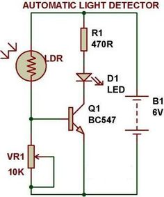 Dark/Light sensor using transistor Electronics Basics, Hobby Electronics, Electronics Storage, Electronics Components, Electronics Projects, New Electronic Gadgets, Electronic Circuit Projects, Electrical Projects, Electronic Engineering