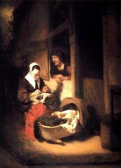 de Nicolaes MAES (hollandais 1634-1693)