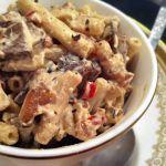Dairy-Free, Gluten-Free Red Pepper & Portobello Mushroom Macaroni