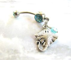 Stingray Bellybutton Ring / Beach Belly Button by BitsOffTheBeach, $16.00