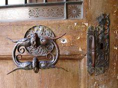 Door handle on Prague Church. Photo by by Cat (HamlinDesign).