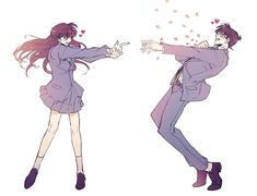 Is this the manga inso law or something? Anime Couples Drawings, Anime Couples Manga, Cute Anime Couples, Manga Anime, Manga Couple, Anime Love Couple, Magic Kaito, Kaito Kid, Detective Conan Wallpapers