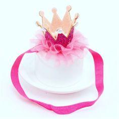 Tiara Crown photo props cake smash 1st Birthday Princess head hairband party   | eBay