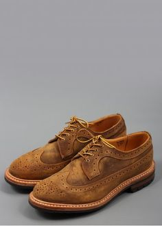 Trickers for Triads Cuba Wax Golosh Longwing Brogue Shoes Your Shoes, Men's Shoes, Dress Shoes, Hiking Fashion, Distressed Leather, Brogues, Cuba, Cloths, Derby