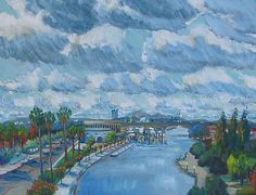 Port of Stockton (Central Valley California), acrylic/canvas, 20 x 16 in., 2012  More on this award winning artist at GalleryPreviewOnline.com  Copyright (c) Vanessa Hadady